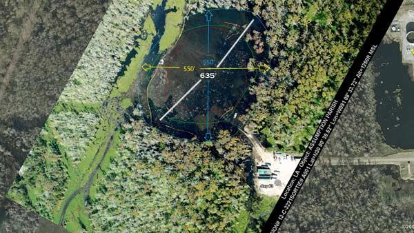 Louisiana Sinkhole - Oct 2012 swallows almost 4 acres