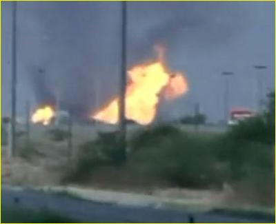 Gas Pipeline Explosion near Reynosa, Mexico