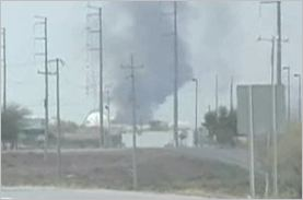 Gas Explosion by Reynosa-Monterrey Highway, Mexico
