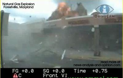 Natural Gas Explosion captured on video