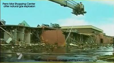 Penn Mar Shopping Center AFTER gas explosion in Forestville