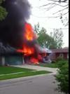 Gas Explosion, Grand Rapids, Michigan - Screen Grab